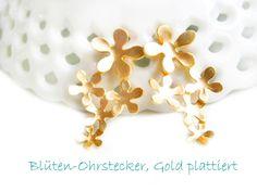 Ohrringe Blüten Ohrstecker Silber 925  von DeineSchmuckFreundin - Schmuck und Accessoires auf DaWanda.com