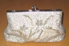 VINTAGE 1940s BEADED CLUTCH. by BailouBayTreasures on Etsy, $45.00