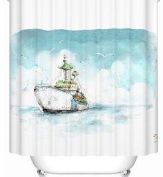 Высокое качество 2015 новые приходят круизное судно занавески для душа красочные ванная комната занавес водонепроницаемый занавески для душа ванная комната