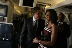 President Barack Obama With 1st Lady Michelle Obama