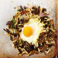 Sheet Pan Kale and Potato Hash with Eggs
