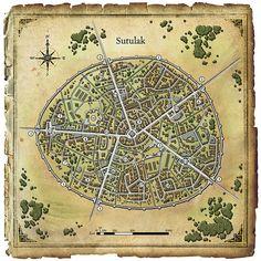 Fantasy City Map, Fantasy World, Environment Map, Imaginary Maps, Village Map, Map Layout, Map Maker, Dungeon Maps, City Maps