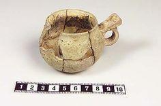 Ceramic cup found in Gotland. In the Historiska Museet, Sweden.