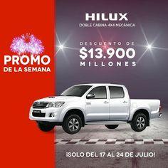 Solo por esta semana puedes aprovechar este súper descuento en tu #ToyotaHilux #Autoamérica ¡Solo hay una unidad disponible, que esperas! Entra ya: www.autoamerica.com.co