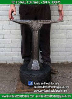 Ask for price with ID0875 on anvilsandtoolsforsale@gmail.com All pictures of all anvils on our website anvil for sale, anvils, blacksmith, blacksmiths, blacksmithing, antique tools, tool collector, swage block, stake, cone, cutler, french pig, amboss, incudine, schmied, forgeron, forge, enclume, forged, blacksmith tools, old tools, vintage tools, handtools, iron work, vise, stake, coutellier, chamouton, hulot harmel, collection, outil ancien, outils anciens, bigorne, art populaire, enclume
