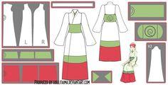 Mito Uzumaki Kimono Cosplay Design Draft by Hollitaima on DeviantArt