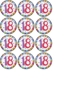 12 18th Birthday edible rice paper fairy / cup cake toppers pre cut decorations - Rice paper discs each measuring approx 1.5″ Suitable for vegetarians  - http://irishcakesupplies.com/wp-content/uploads/2013/12/519gIBIQv8L.jpg - #12, #18th, #Birthday, #EDIBLE, #FAIRY, #Paper, #Rice  - http://wp.me/p2Sdif-4xa