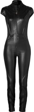 Jitrois Leather Kinsky Jumpsuit in Black on shopstyle.com