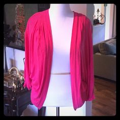 Michael Stars hot pink sweater/top one size Soft, worn a few times. Pleats at shoulders. One size fits most, I wore it as a size XL. Michael Stars Tops