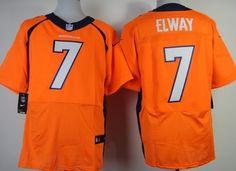 Nike Denver Broncos #7 John Elway 2013 Orange Elite Jersey