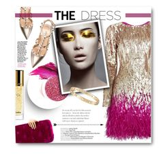 """""""The perfect party dress"""" by pippi-loves-music ❤ liked on Polyvore featuring Matthew Williamson, Valentino, Benedetta Bruzziches, Urban Decay, Cartier, Guerlain and partydress"""