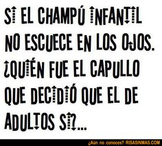 Champú infantil VS Champú adultos | Risa Sin Más