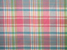 Madras Plaid Fabric $2.95 per yard - Kiawah
