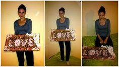 Słodki obraz z batoników,wafelków,cukierków.Prezent ślubny dla młodej pary.