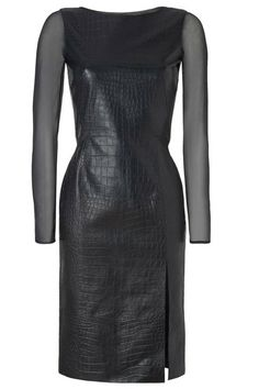 Leather Emilio Pucci Croc-Embossed Leather Dress, $4,529