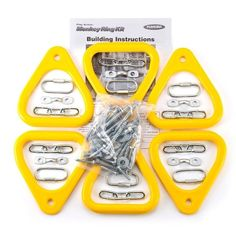 PlayStar Monkey Ring Kit Yellow Monkey Rings at Lowe's. PS 7744 Monkey Ring kit is a great alternative to metal bars or rungs. Outdoor Toys, Outdoor Play, Swing Set Parts, Swing Sets, Outdoor Swing Seat, Swing Set Hardware, Swing Set Accessories, Nest Swing, Rope Ladder