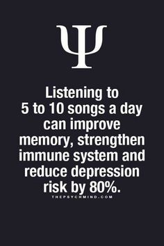 thepsychmind: Fun Psychology facts here! - thepsychmind: Fun Psychology facts here! thepsychmind: Fun Psychology facts here! Psychology Says, Psychology Quotes, Psychology Fun Facts, Music Quotes, Me Quotes, Music Therapy, Music Is Life, Self Help, Mindfulness