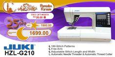 Juki HZL-G210  #ramadan #kareem #discount #sale #sewing #machine #juki #stitch #fashion #online #mall