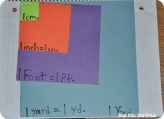 DIY measurement book--use it to model area