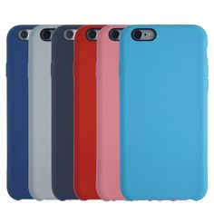 Original Leather Pattern Phone Cases For iPhone 6 6S Plus 7 7 Plus Ultra Thin Simple Official Colorful Soft Silicone Back Cover