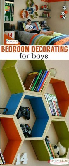 Cool Bedrooms for Teen Boys Bedroom ideas for boys Decorating a boy bedroom See more creative ideas on