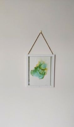 "Alcohol inks abstract ""Green feelings"" Alcohol Ink Art, Wooden Frames, Abstract Art, Feelings, Create, Paper, Glass, Green, Painting"