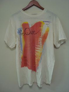 The Cure Vintage Kissing Tour T-Shirt Front OS