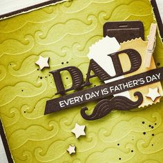 Dies are such versatile tools! Aside from the regular die cutting you can use them to make stamps (by die cutting the shape out of fun foam, see video example Fathers Day Cards, Altenew, Simon Says Stamp, Masculine Cards, Make Your Own, The Help, Birthday Candles, Cardmaking, Layouts