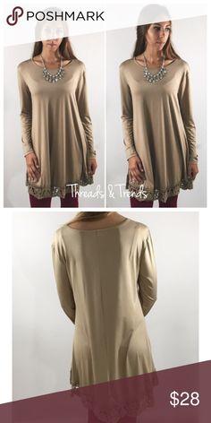Spotted while shopping on Poshmark: Khaki Tunic Shift Dress! #poshmark #fashion #shopping #style #Dresses & Skirts