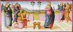 Pietro Perugino, Annunciazione, XV secolo, Galleria Nazionale dell'Umbria, Perugia