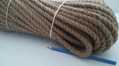 Natural Jute Hessian Rope Cord Braided Twisted DIY Craft Rustic Projects