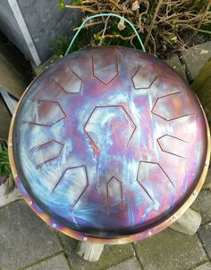 Tank drum 53cm doorsnede RVS  #www.Tankdrum.nl Diy Drums, Hammered Dulcimer, Hand Drum, Spiritual Music, Steel Drum, Kalimba, Multiple Choice, Diy Projects To Try, Musical Instruments