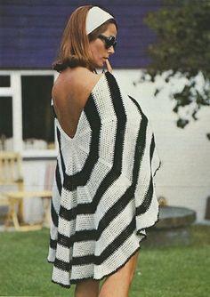 LACY TOPS/DRESSES/BIKINI~HIPPY VESTS/NECKLACES/HATS++ Vintage Crochet Patterns