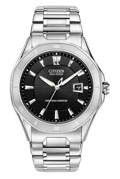 Citizen Octavia Perpetual BL1270-58E create sporty elegance in this Octavia Perpetual Calendar watch from the Citizen Signature Collection.