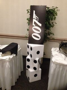 James Bond theme party...floor decor.