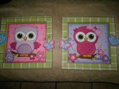 cuadros de buhos infantiles - Buscar con Google Owl Nursery, Nursery Decor, Tole Painting, Wooden Signs, Diy Art, Playroom, Birthday Cards, Diy And Crafts, Baby Shower