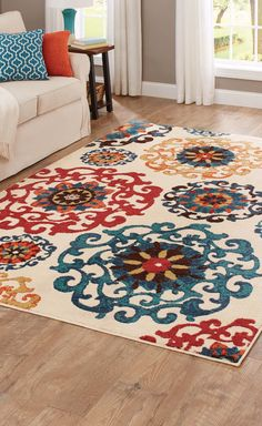 Better Homes And Gardens Suzani Cream Area Rug