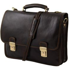 Firenze - Tuscany Leather - Leather briefcase 2 compartments - Bags For Business