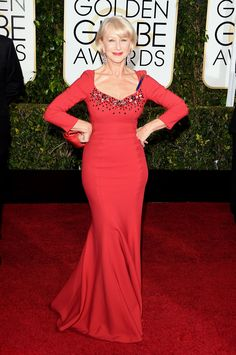 2015 Golden Globes Glamour! See the Best Dresses on the Red Carpet: Helen Mirren Wearing Dolce & Gabbana.