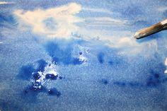 Acrylique : Mouillé sur mouillé