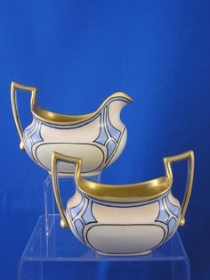 T Limoges Art Deco Creamer & Sugar.  I have tea cups a lot like this that i don't know what to do with.