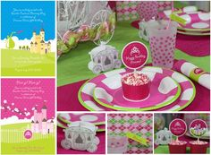 Items similar to PRINCESS Party Supplies {Pink Castle and Crown} - The Celebration Shoppe on Etsy Disney Princess Birthday Party, Princess Tea Party, Birthday Parties, Birthday Ideas, 3rd Birthday, Winter Princess, Happy Birthday, Princess Theme, Princess Castle