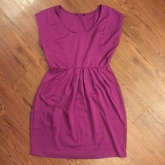 Purple dress! Cute purple dress. Bought this from another posher and it does not fit me. The tag was cut out so I am not sure the size or brand. I am guessing it's a size small in juniors. Dresses Mini