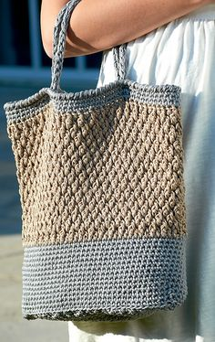 Ravelry: Textured Tote Bag pattern by Laura Gebhardt