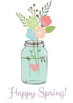 Happy Spring Free Printable