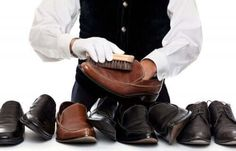 Leather shoes can be costly so you want to take care of them. These tips for cleaning leather shoes will help you keep your shoes looking great for less. Cleaning Leather Shoes, How To Make Shoes, How To Wear, Clean Shoes, Your Shoes, Leather Backpack, Baywatch, Bomber Jacket, Boots