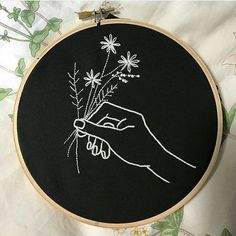 Картинка с тегом «diy, embroidery, and floral»