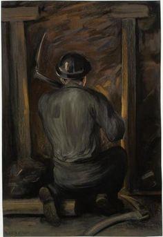 Mijnwerker aan het werk - Herman Heijenbrock (1907)