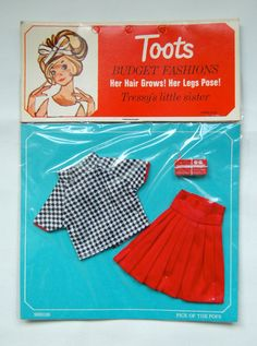 Vintage 1960 s (Tressy &) Toots Doll Palitoy Fashion Clothes Outfit New on Card
