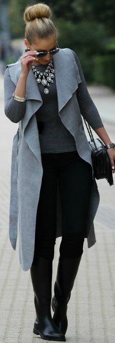 Sleeveless Coat / Fashion By Style And Blog